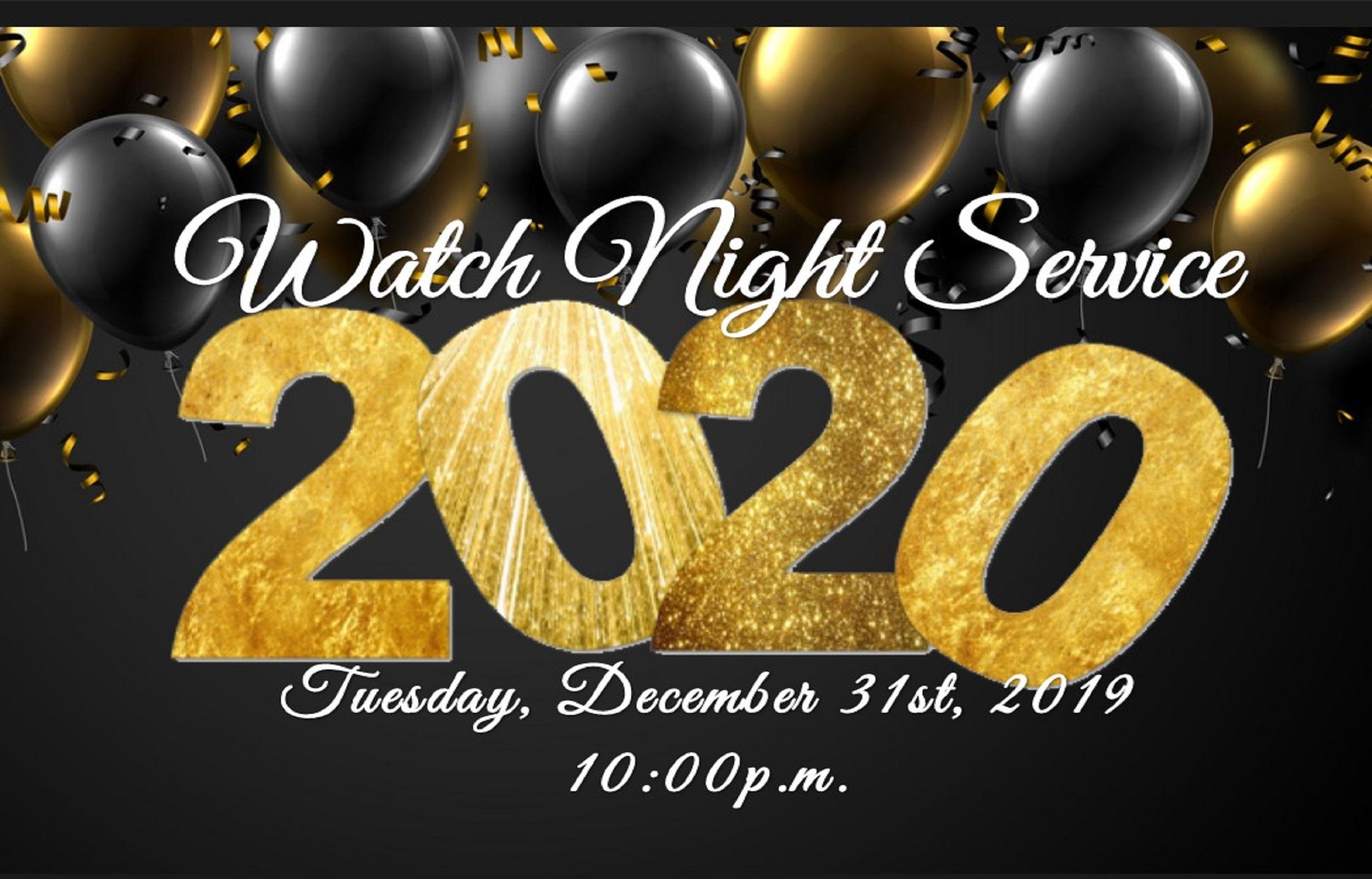 FUBC Watch Night 2019-2020